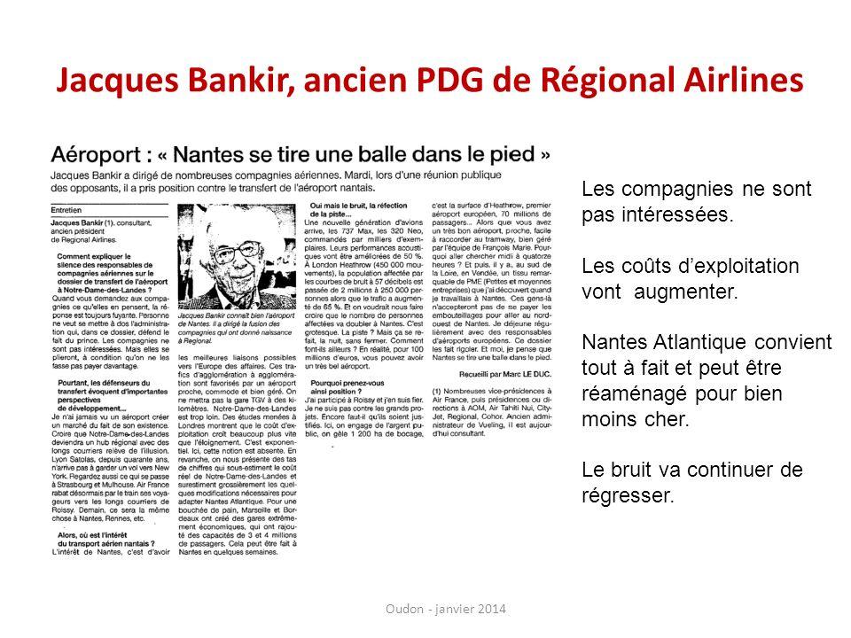 Jacques Bankir, ancien PDG de Régional Airlines