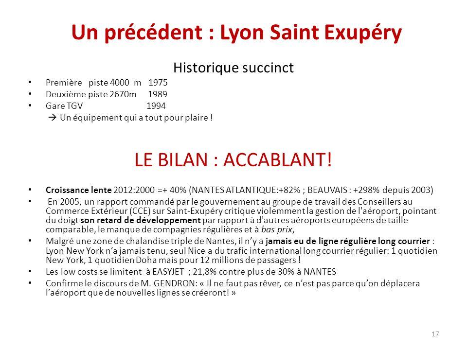 Un précédent : Lyon Saint Exupéry