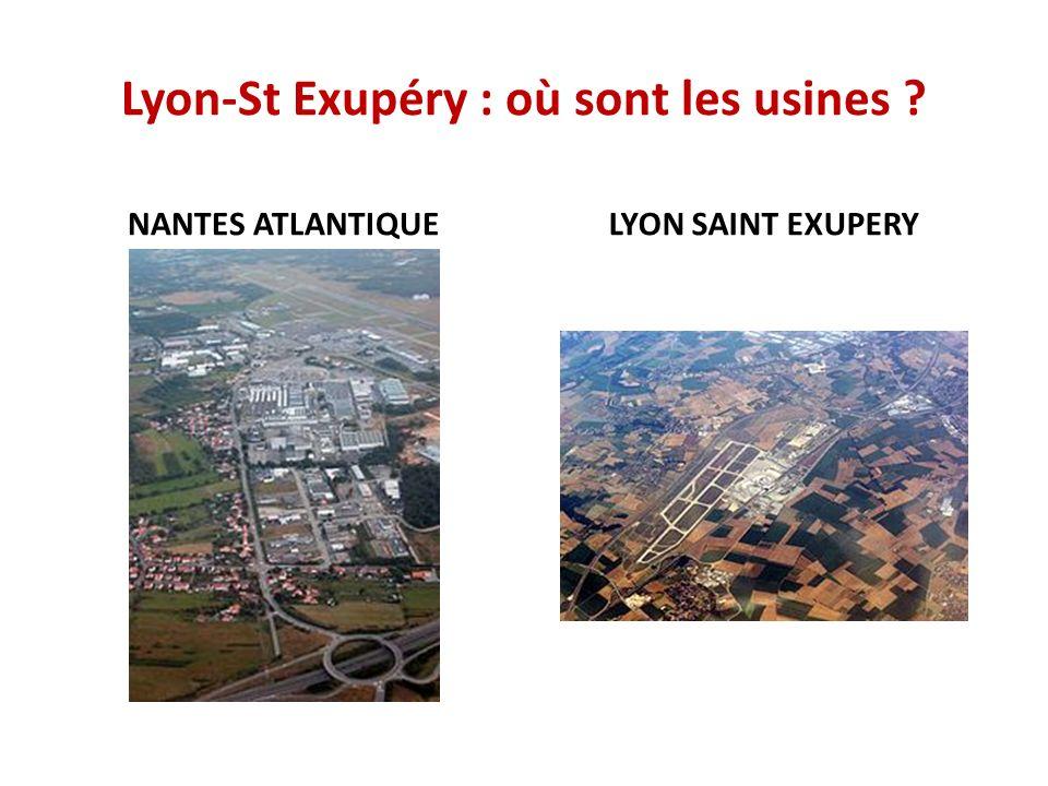 Lyon-St Exupéry : où sont les usines
