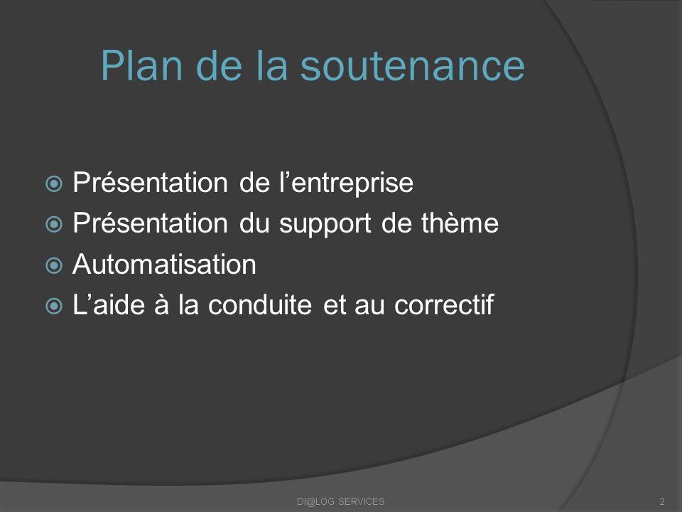 Plan de la soutenance Présentation de l'entreprise