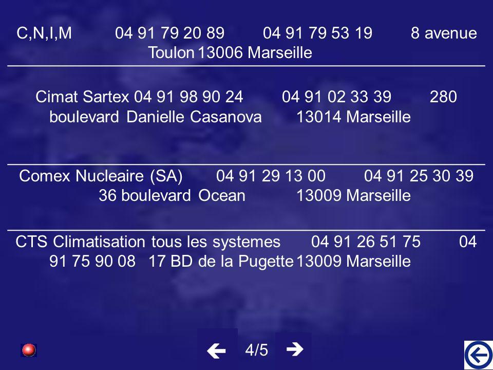 C,N,I,M 04 91 79 20 89 04 91 79 53 19 8 avenue Toulon 13006 Marseille