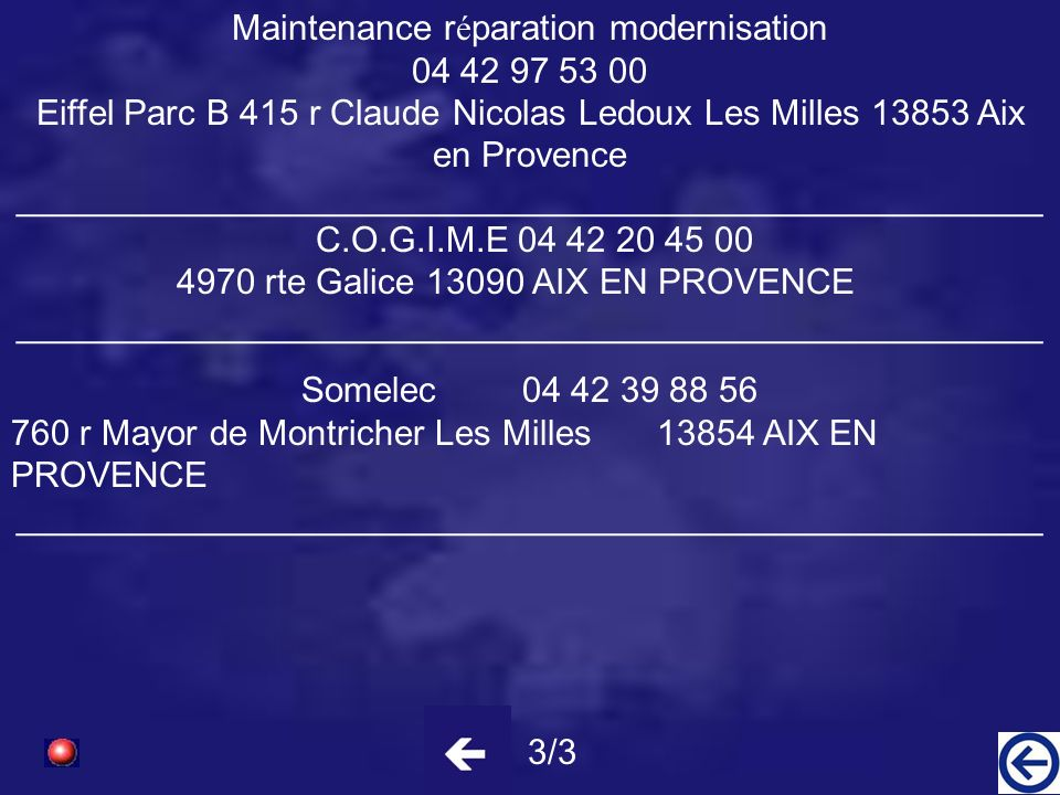 Maintenance réparation modernisation 04 42 97 53 00