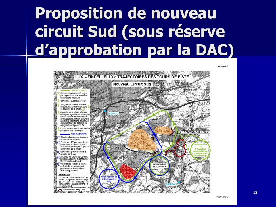 Proposition de nouveau circuit Sud (sous réserve d'approbation par la DAC)