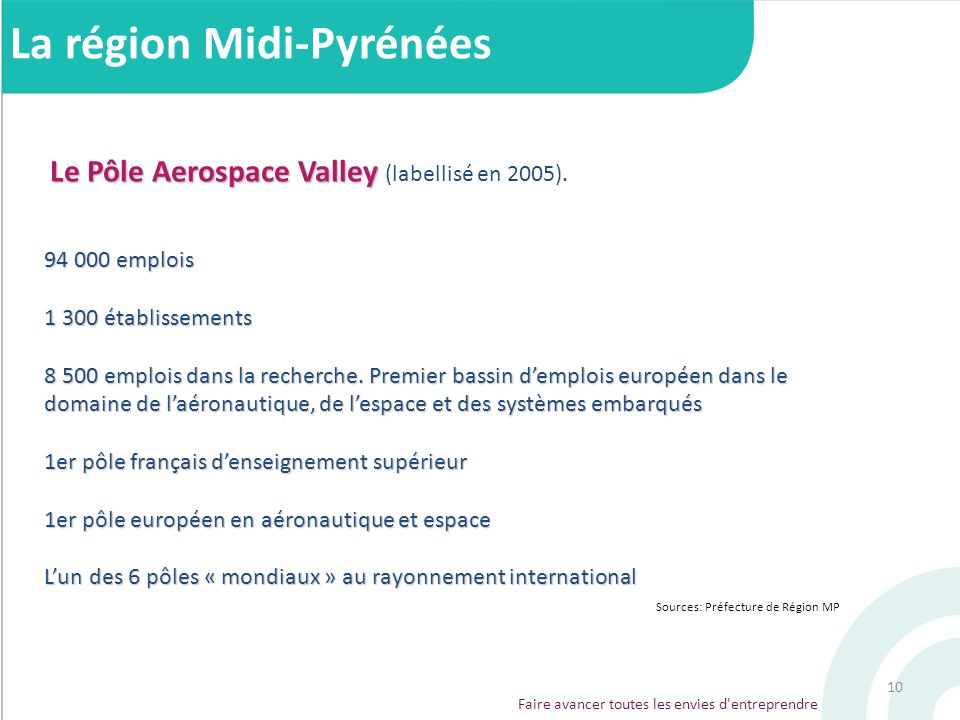 Le Pôle Aerospace Valley (labellisé en 2005).
