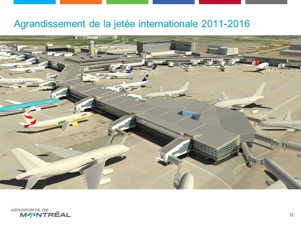 Agrandissement de la jetée internationale 2011-2016