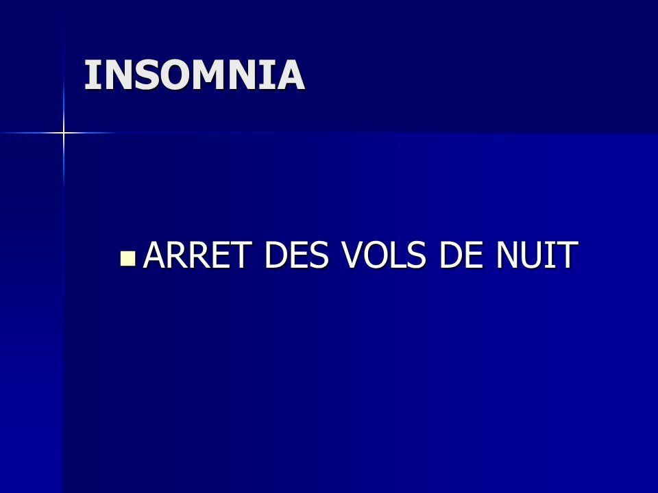 INSOMNIA ARRET DES VOLS DE NUIT