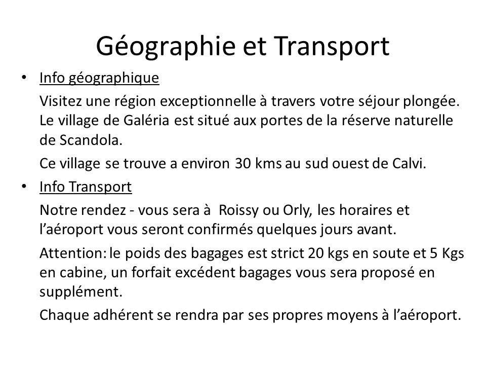 Géographie et Transport