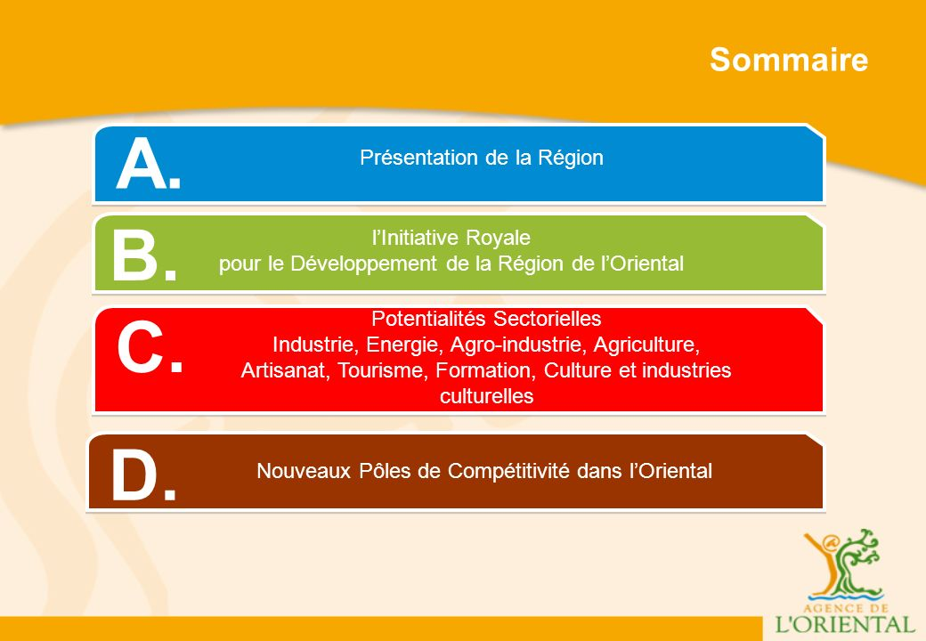 A. B. C. D. Sommaire Présentation de la Région l'Initiative Royale