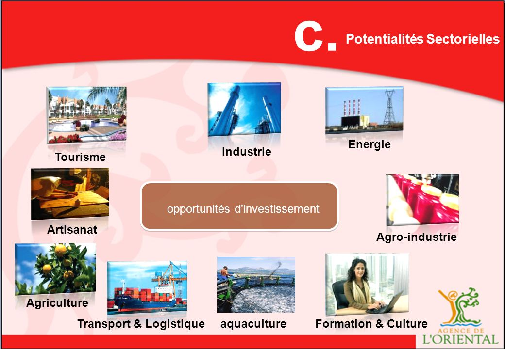 c. B. Rôle de L'Agence de l'Oriental Potentialités Sectorielles