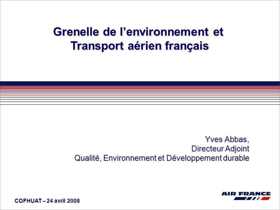 Grenelle de l'environnement et Transport aérien français