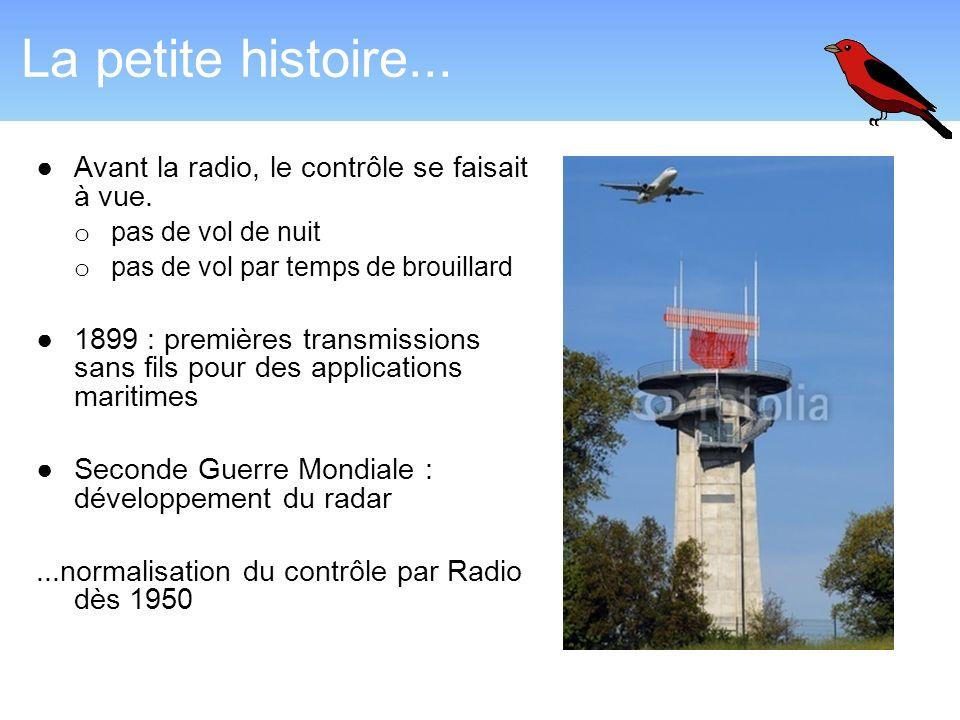 La petite histoire... Avant la radio, le contrôle se faisait à vue.