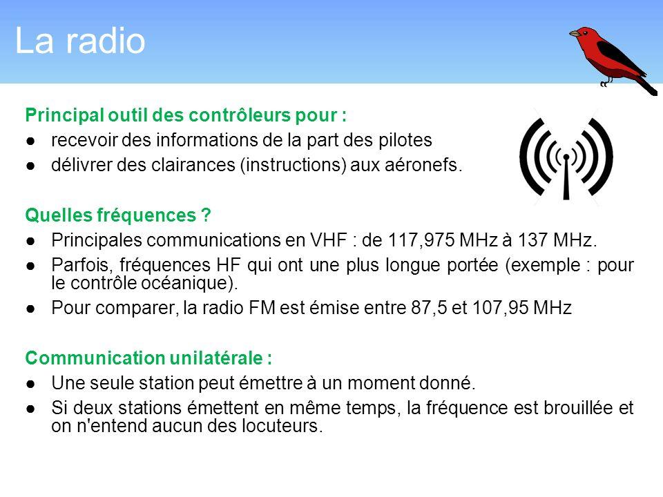 La radio Principal outil des contrôleurs pour :