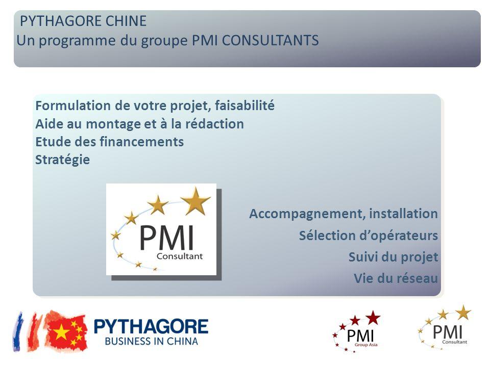 Un programme du groupe PMI CONSULTANTS PYTHAGORE CHINE