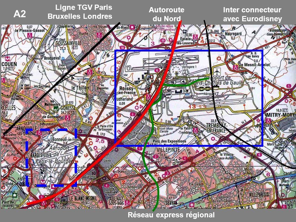 A2 Ligne TGV Paris Bruxelles Londres Autoroute du Nord