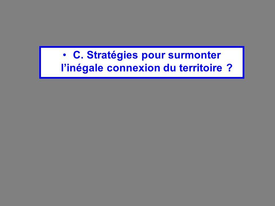 C. Stratégies pour surmonter l'inégale connexion du territoire
