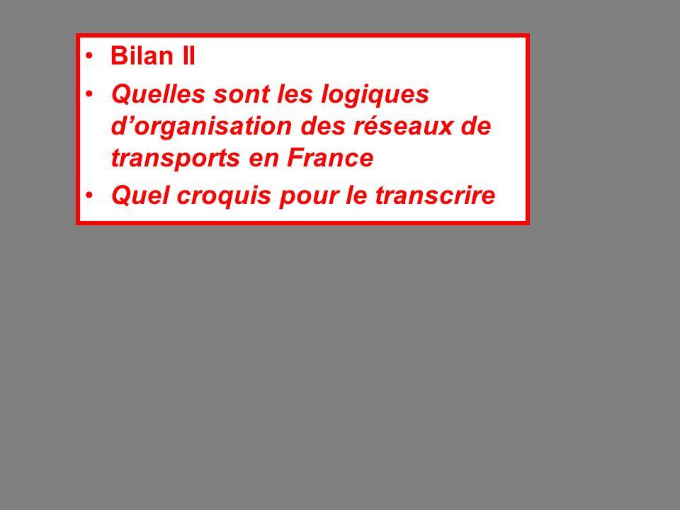 Bilan II Quelles sont les logiques d'organisation des réseaux de transports en France.