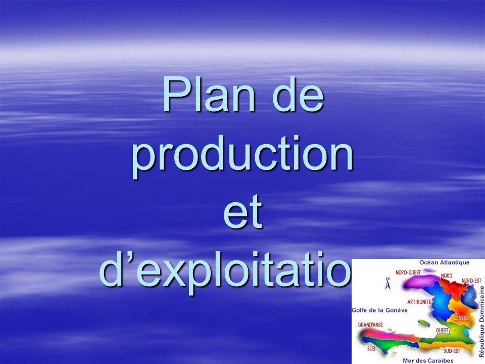 Plan de production et d'exploitation.