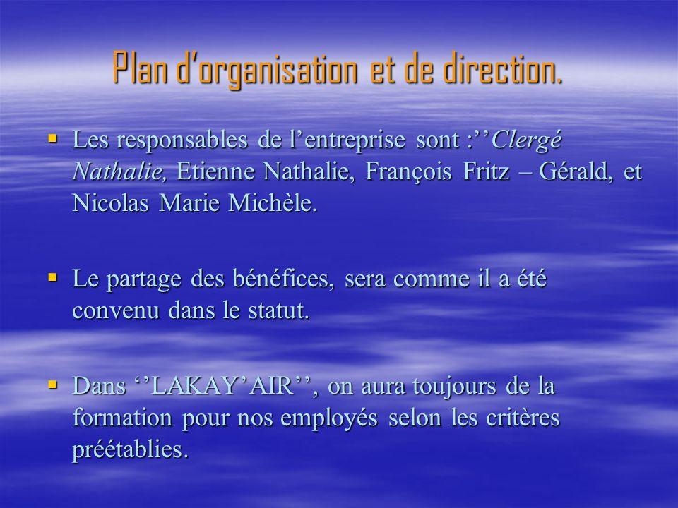 Plan d'organisation et de direction.