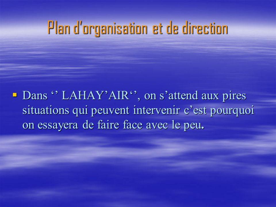 Plan d'organisation et de direction