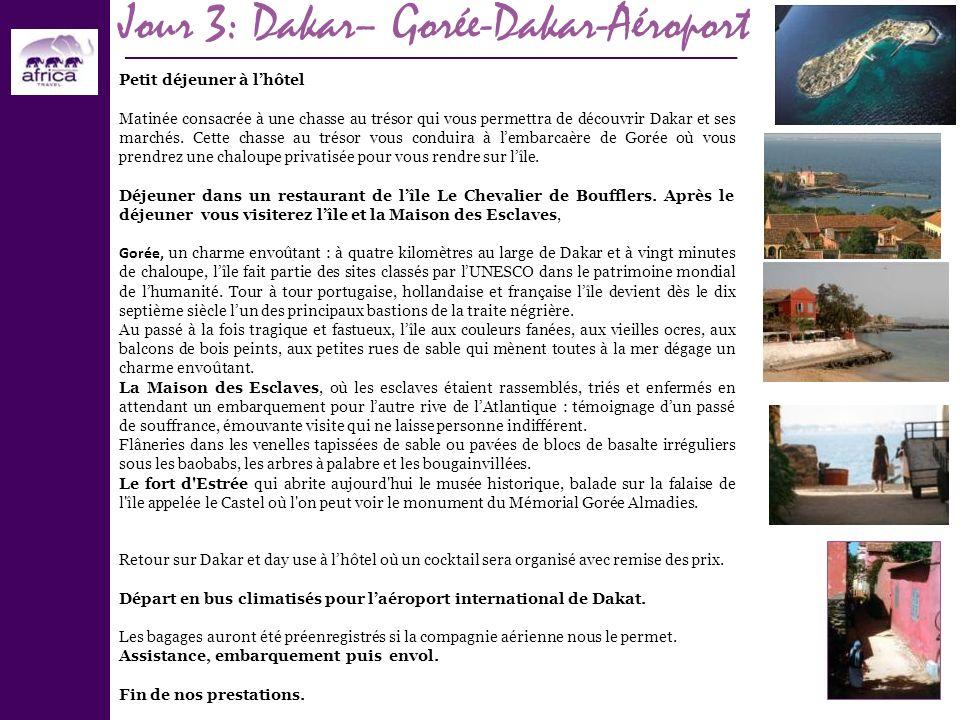 Jour 3: Dakar– Gorée-Dakar-Aéroport