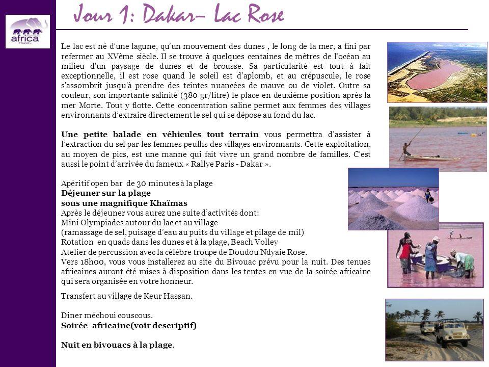 Jour 1: Dakar– Lac Rose