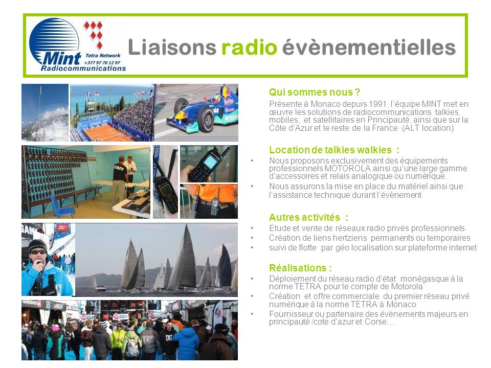 Liaisons radio évènementielles