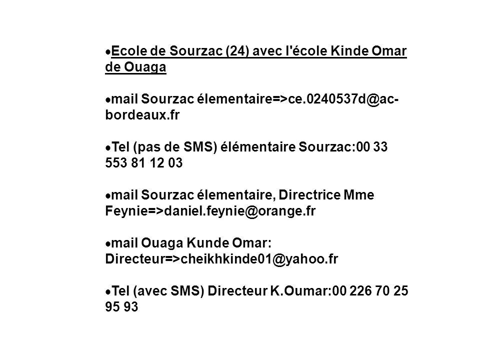Ecole de Sourzac (24) avec l école Kinde Omar de Ouaga