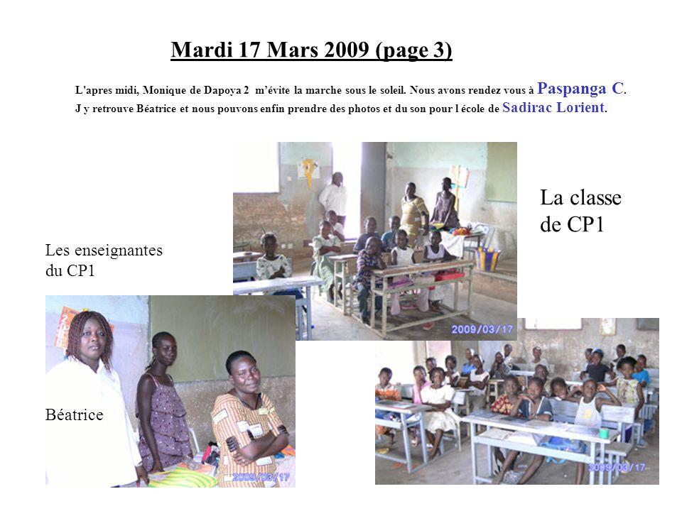 Mardi 17 Mars 2009 (page 3) La classe de CP1 Les enseignantes du CP1