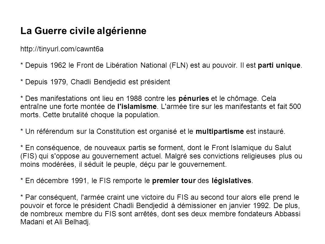 La Guerre civile algérienne
