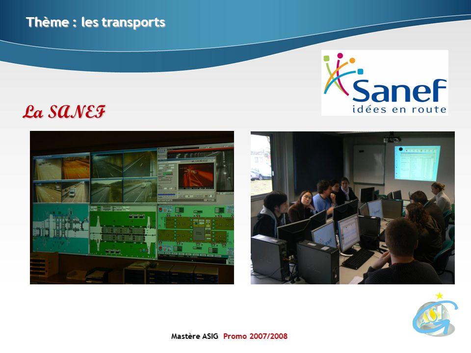 Thème : les transports La SANEF