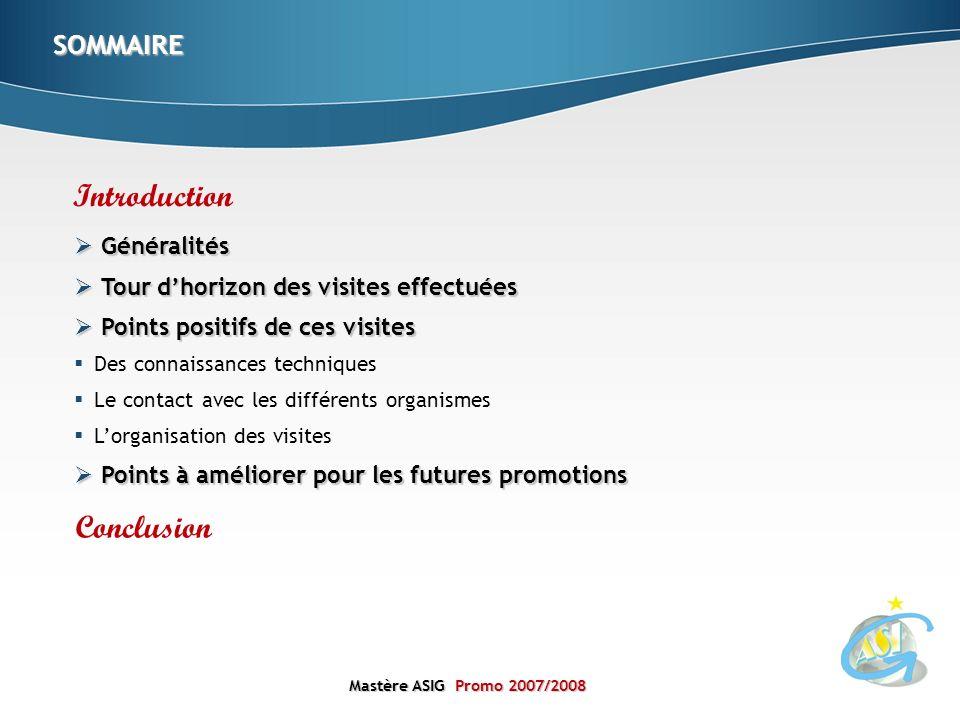 Introduction Conclusion SOMMAIRE Généralités