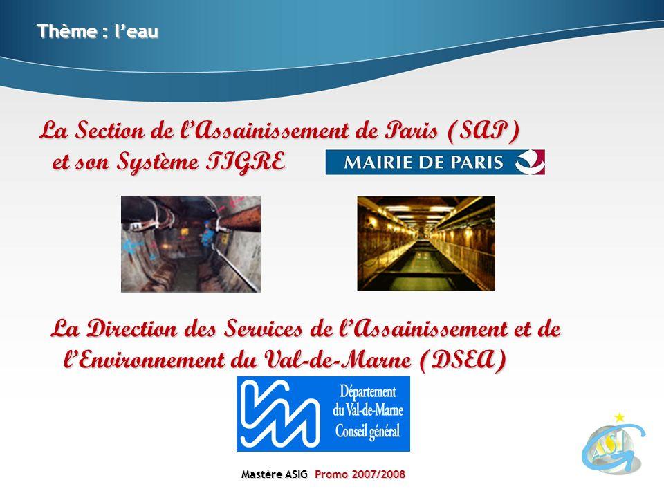 La Section de l'Assainissement de Paris (SAP) et son Système TIGRE