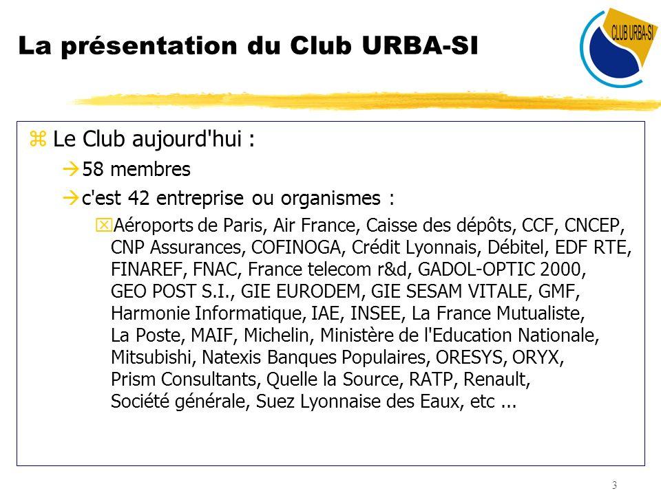 La présentation du Club URBA-SI