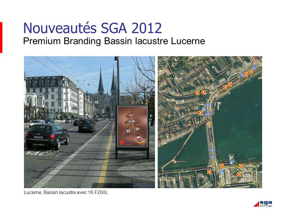 Nouveautés SGA 2012 Premium Branding Bassin lacustre Lucerne