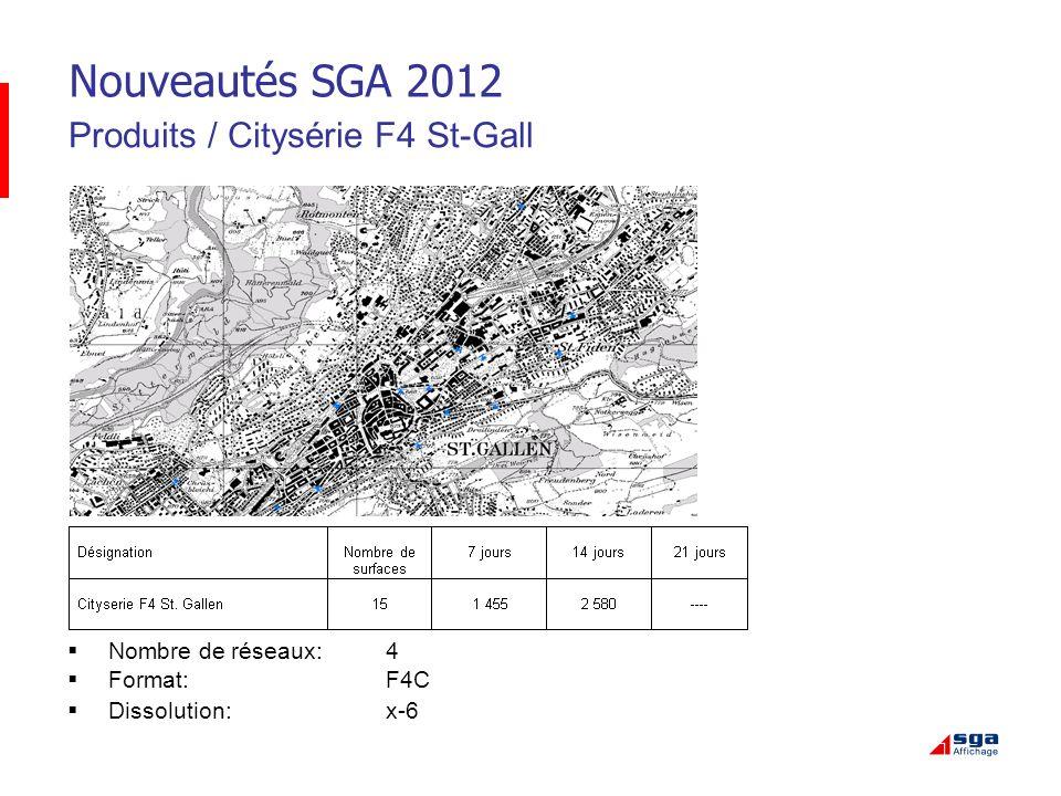 Nouveautés SGA 2012 Produits / Citysérie F4 St-Gall