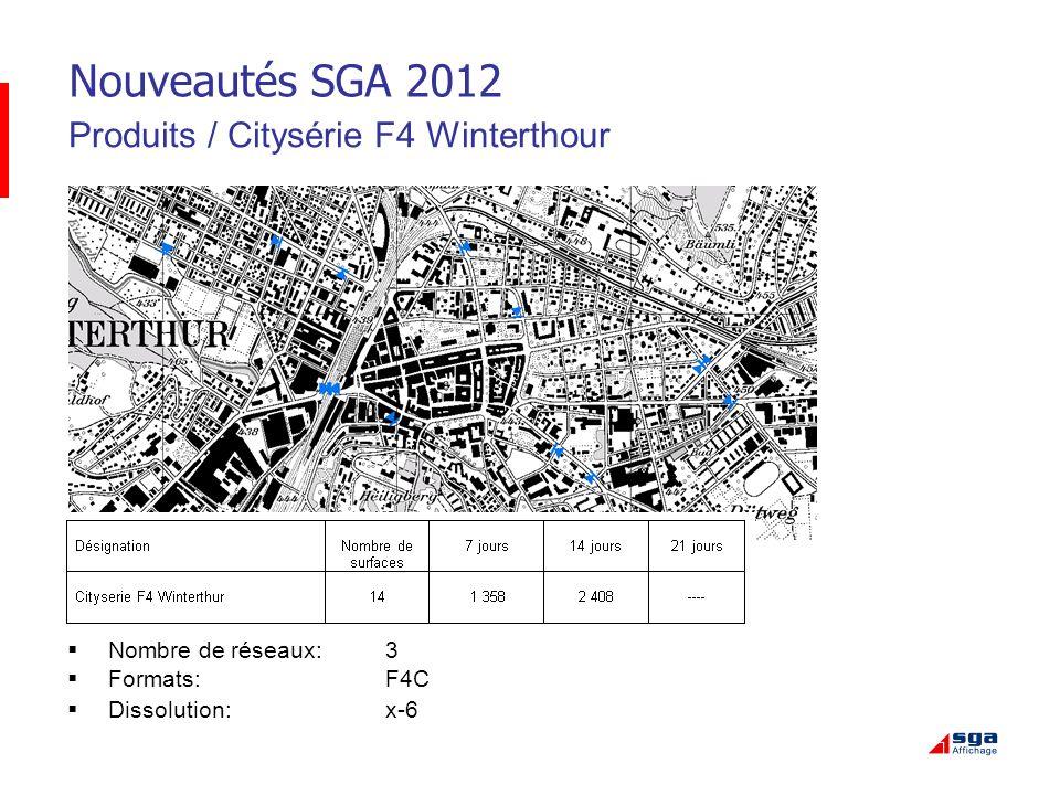 Nouveautés SGA 2012 Produits / Citysérie F4 Winterthour