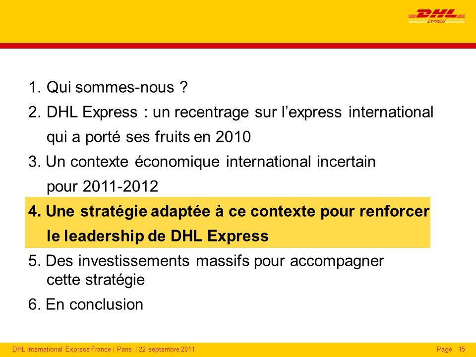 DHL Express : une présence accrue dans de nouveaux pays émergents