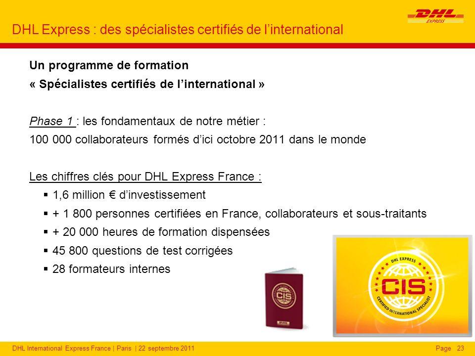 CIS : des spécialistes certifiés de l'international