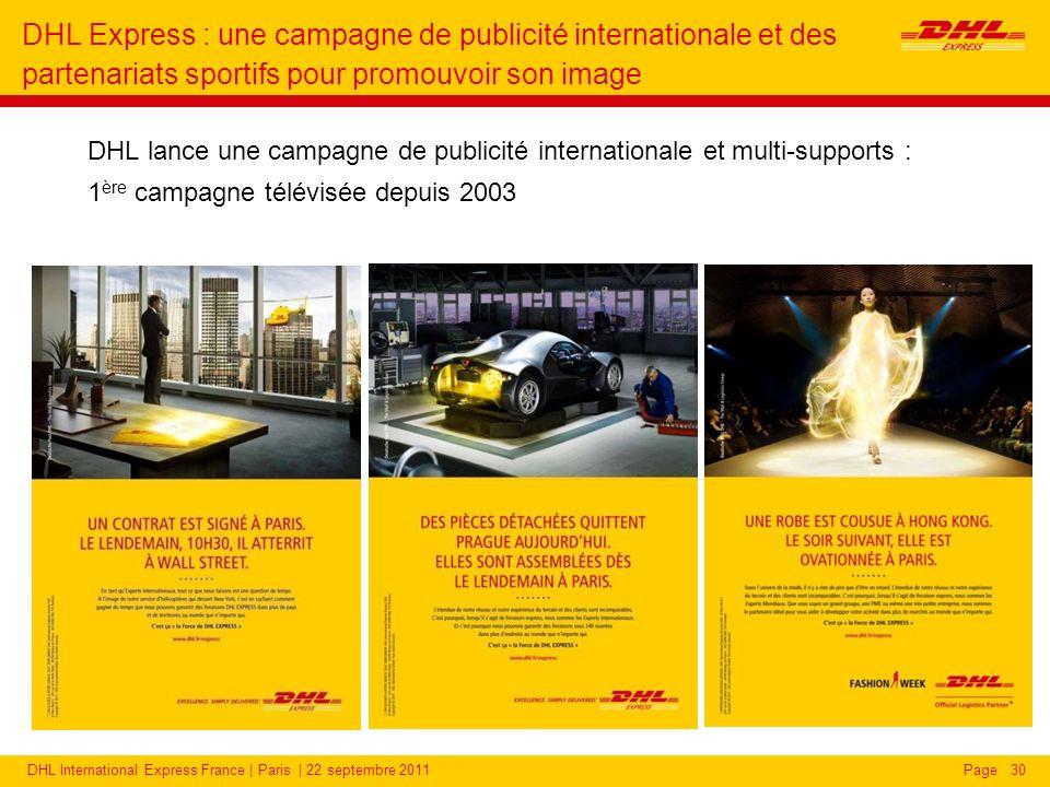 DHL Express : une campagne de publicité internationale et des partenariats sportifs pour promouvoir son image