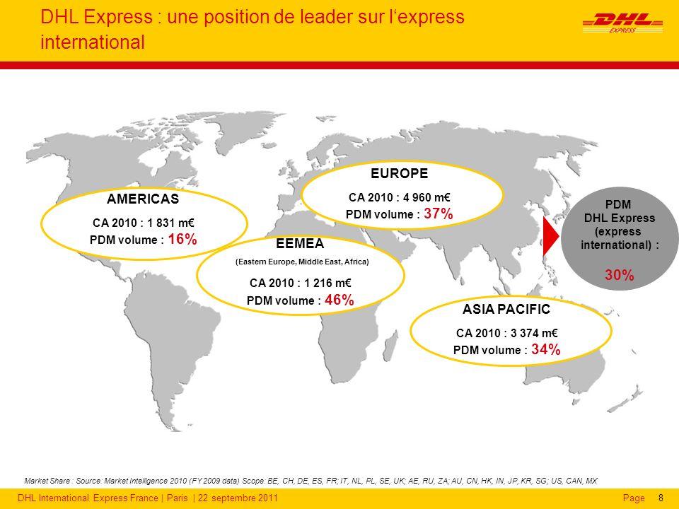 DHL Express en France : une activité recentrée sur l'international depuis 1 an