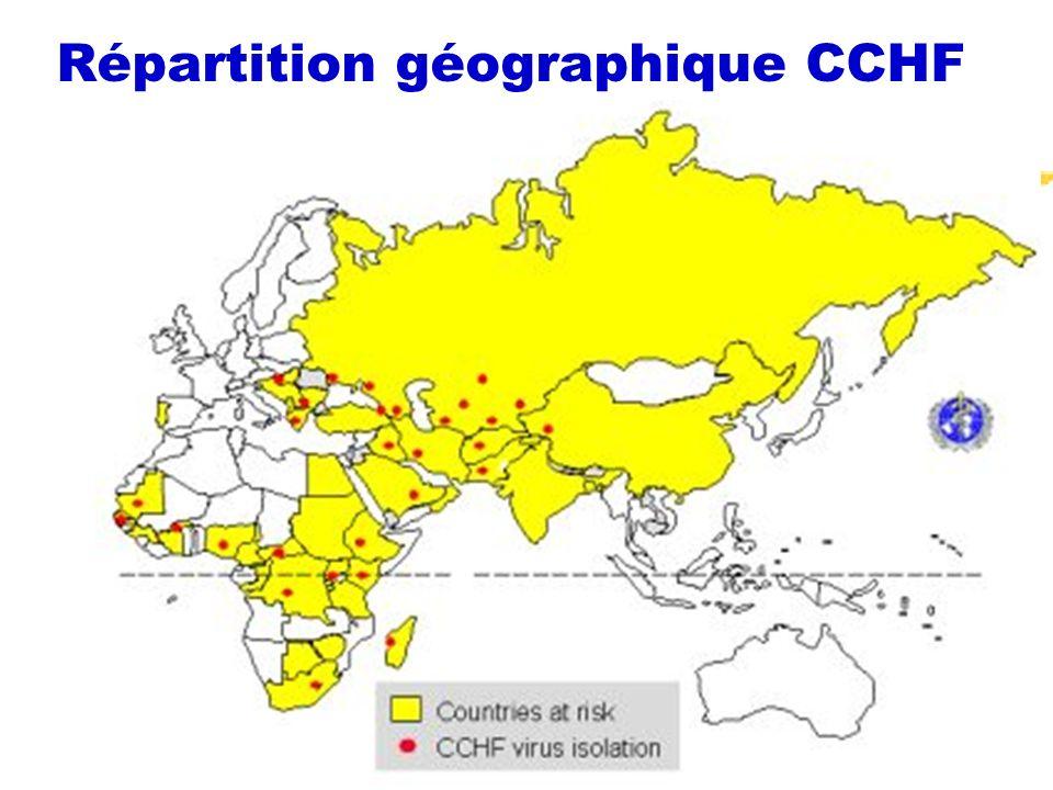 Répartition géographique CCHF