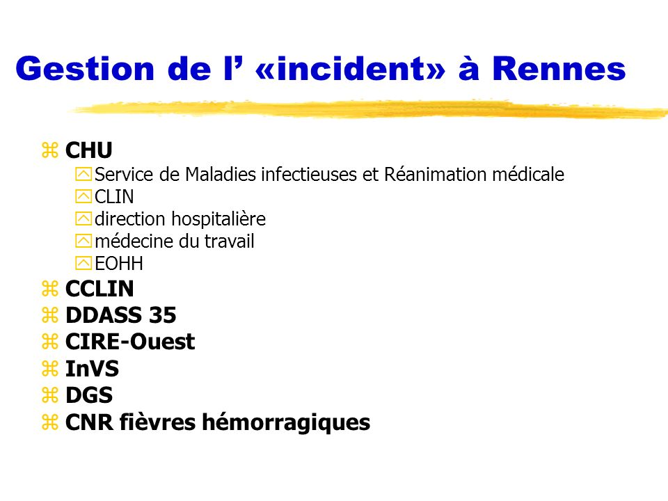 Gestion de l' «incident» à Rennes