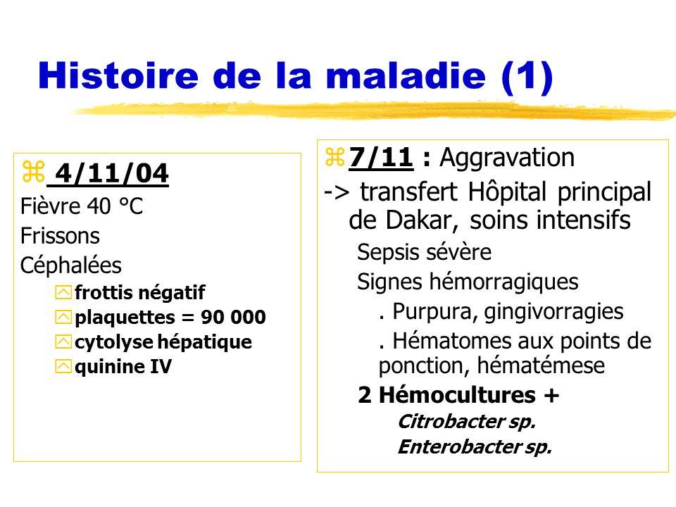 Histoire de la maladie (1)