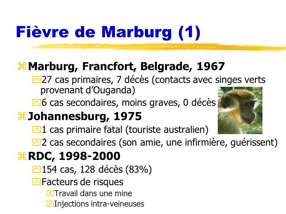 Fièvre de Marburg (1) Marburg, Francfort, Belgrade, 1967