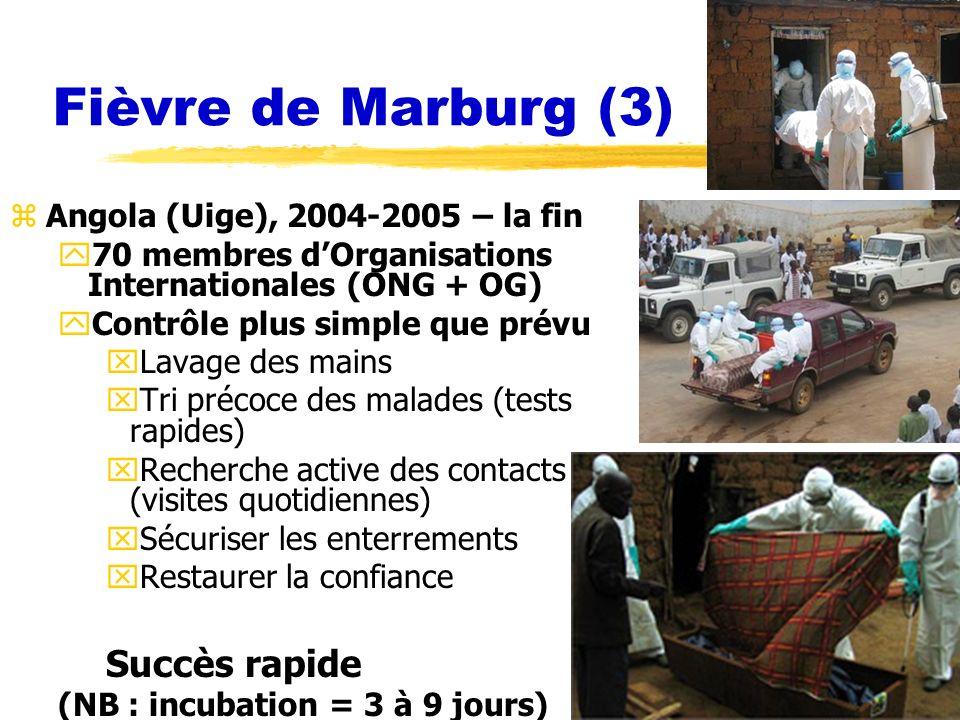 Fièvre de Marburg (3) Succès rapide Angola (Uige), 2004-2005 – la fin