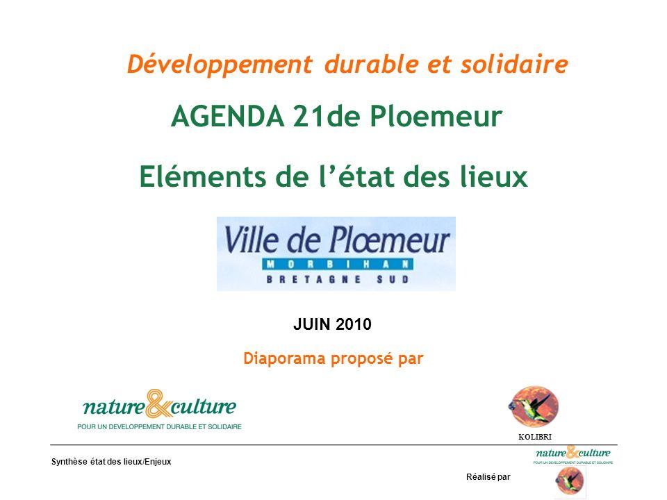 Développement durable et solidaire Eléments de l'état des lieux