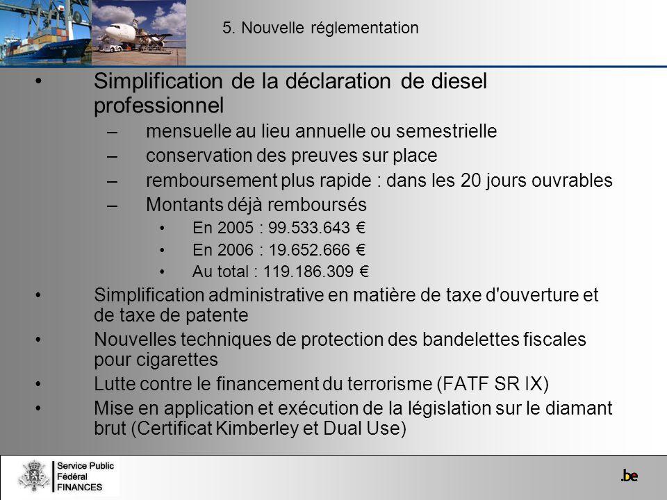Simplification de la déclaration de diesel professionnel
