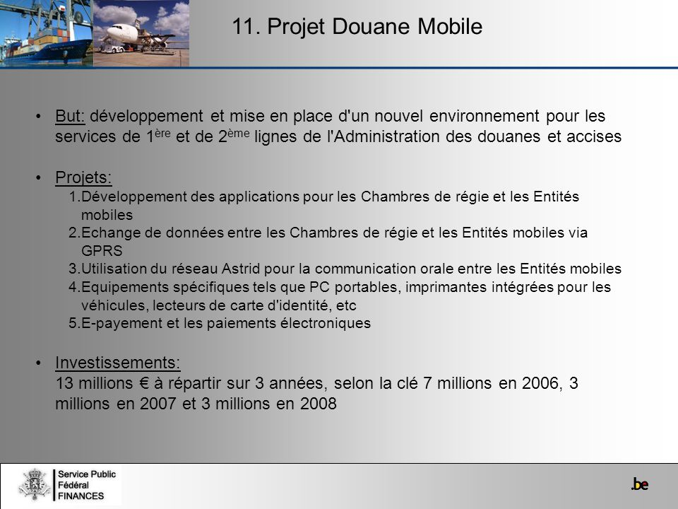 11. Projet Douane Mobile