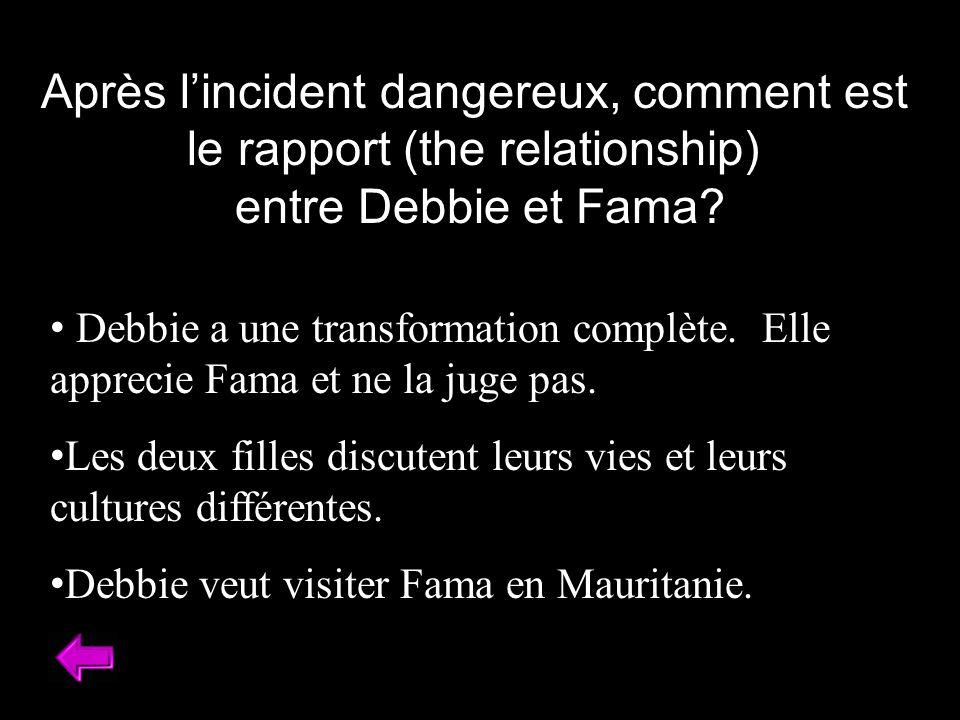 Après l'incident dangereux, comment est le rapport (the relationship)