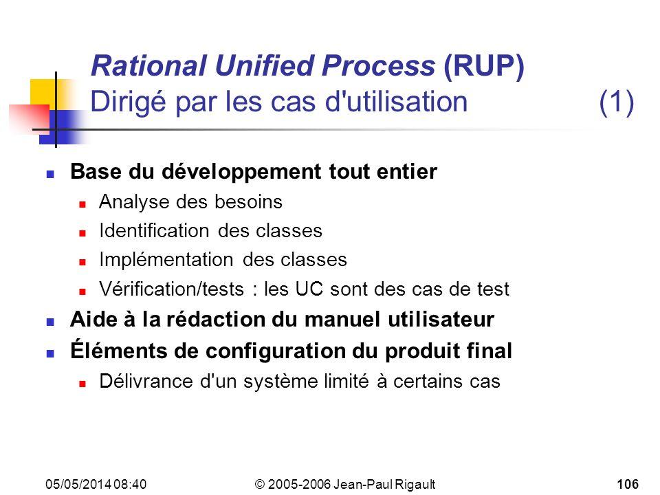 Rational Unified Process (RUP) Dirigé par les cas d utilisation (1)